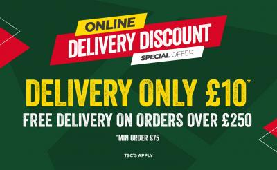 FREE DELIVERY FOR ONLINE ORDERS OVER £250!