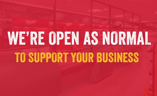 We are open to support your business
